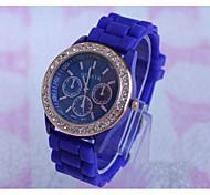 New Arrival Casual Fashion Laides Wrist Watches Geneva Quartz Women Watch silicone Jelly Band Clock Reloj Mujer
