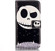 Para Funda iPhone 7 / Funda iPhone 7 Plus Cartera / Flip Funda Cuerpo Entero Funda Calavera Dura Cuero Sintético AppleiPhone 7 Plus /