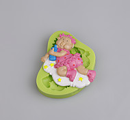 Take a bottle of baby silicone cake mold decoration for Baby Shower Color Random