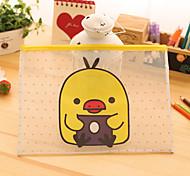 transparente Papierbeutel mit Reißverschluss-Tasche