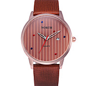 Mens Casual Watch Wristwatch Genuine Leather Date Day Display Montre Reloj Relogio MasculinoBrand Quartz Watch