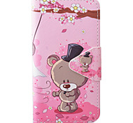 Bear Pattern PU Material New High-End Card Holder Phone Case For Samsung Galaxy S7 S7 Edge