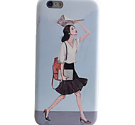 Sexy Lady Pattern IMD Technology Phone Case TPU Material For iPhone 6s 6 Plus