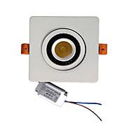 zdm 7W cob escurecimento individuais girar 360 graus LED embutido lâmpada do teto (AC90-260V)