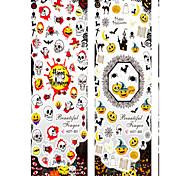 pegatinas de Halloween uñas carnaval impermeables y bonitos y cómodos 6pcs de seguridad
