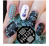 Nail Art Stamping Plate Image Stamp Template Mathematical Formula Pattern QA95