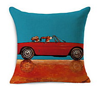 Mong People Happy Cartoon Dog Open Car Pillow Cotton Car High Quality Cotton Pillow Cushions