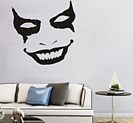 AYA DIY Wall Stickers Wall Decals Halloween Decoration Face Type PVC Panel Wall Stickers 52*52cm