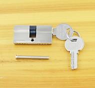 Keyed Lock Cylinder Key/Key 60mm(30/30)Lock Cylinder 3 Keys Bushed Nickel