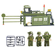 Bloques de Construcción Para regalo Bloques de Construcción Modelismo y Construcción War Chariot Plástico Por encima de 6 Verde Juguetes