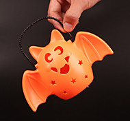 1PC Interesting Retro Hallowmas Christmas Convenient LED Pumpkin Lamp Flash Music Bat Lamp