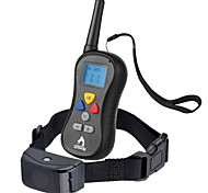 Hunde Bellhalsband Training - Hundhalsbänder Anti Bark Wasserdicht 300M Vibration Fernbedienung LCD Solide Schwarz Nylon