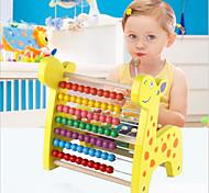 brinquedo educativo Puzzle brinquedo Circular / Triângulo Madeira Arco-Íris Para Crianças inferior a 3
