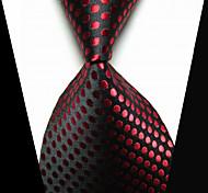 Галстуки Мода бижутерия Черный Красный Ткань Муж. Галстук-