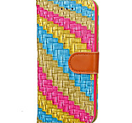 Per Custodia iPhone 7 / Custodia iPhone 7 Plus / Custodia iPhone 6 A portafoglio / Porta-carte di credito Custodia Integrale Custodia