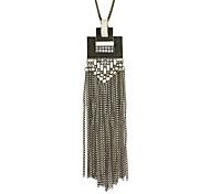 Punk Vintage Style Long Chain Tassel Pendant Necklaces