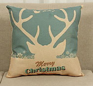 European And American Style Christmas Tree Pattern Elk Cushions Digital Printing Thick Cotton Pillow Cover