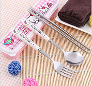 HelloKitty 3 pieces of tableware set