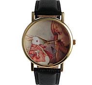 European And American Style  Girls And  White Rabbit Pattern Girls Watch