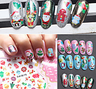 12PCS/Set 3D Manicure Christmas Decals Series