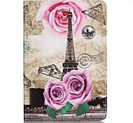 Full Body Card Holder / Wallet Rose Eiffel Tower PU Leather Hard Case Cover For Apple iPad Mini 4 / iPad Mini 3/2/1
