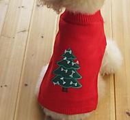 Коты Собаки Свитера Одежда для собак Зима Весна/осень В снежинку Сохраняет тепло Рождество Новый год Черный Желтый Красный Синий