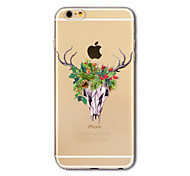 Back Cover Translucent Deer head Christmas TPU Soft Case Cover For AppleiPhone 7 iPhone 7 plus iPhone 6 6 Plus iPhone 5