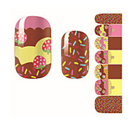 Fashion Lovely Ice Cream Cake Summer Bow Nail Decal Art Sticker Gel Polish Manicure Beautiful Girl