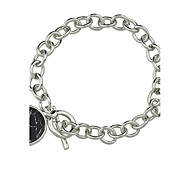 Silver Color Chunky Chain Bracelets