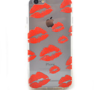 Lips HD Pattern Embossed Acrylic Material TPU Phone Case For iPhone 7 7 Plus 6s 6 Plus