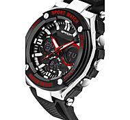 SANDA Мужской Спортивные часы Армейские часы Смарт-часы Модные часы Наручные часыLED Секундомер Защита от влаги С двумя часовыми поясами