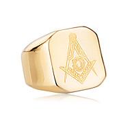 Массивные кольца Титановая сталь Мода Винтаж Панк По заказу покупателя Золотой Черный Серебряный Бижутерия Повседневные Новогодние подарки
