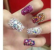 500pcs Nail Stickers Drill Nail Flame Lava Symphony AB Color Diamond Drilling Austria Crystal Glass Bottom Tip Drill