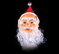 Santa máscara Noel decorações de natal próteses com o chapéu falta de papai noel
