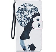 Lady PU Leather Wallet Case Cover with Card Slots with Stand for Iphone7 7Plus