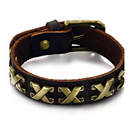 Men's Fashion Jewelry Alloy Vintage Adjustable Leather Bracelet Casual/Daily Gift Accessories