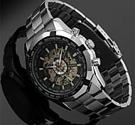 Masculino Relógio de Moda Quartz / Digital / Lega Banda Casual Prata marca