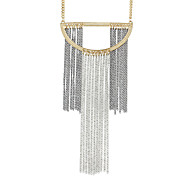 Long Chain Statement Pendant Necklaces