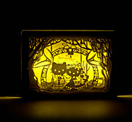 1PC  HelloKitty    Stereo   Paper Carving Lamp Creative Photo Frame Bedroom  Atomospheres  Small Night  Lamp