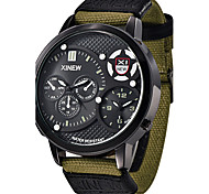 Men's Military Watch Luxury Brand canvas Casual Analog Display Date Water Proof Men's Quartz Watch  Clock Sport Military Army Watch Wrist Watch