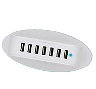 Intelligent 7-Port Socket Multi-Port 7USB6 Interface Fast Cell Phone Head 5V2A Row Of Smart Plug Socket