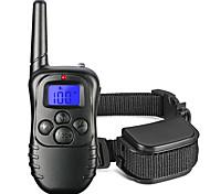 Hunde Bellhalsband / Training - Hundhalsbänder 300M / Anti Bark / Fernbedienung / Schock / Eletrisch/Elektrisch / LCD Schwarz Plastik