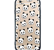 Transparent/Pattern Tile Little Cute Pandas TPU Soft Case For Apple iPhone 6s Plus/6 Plus/iPhone 6s/6/iPhone SE/5s/5
