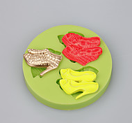 3 Cavity high heels shape silicone mold for fondant cake mold soap molds silicone cake mold