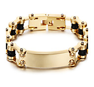 Kalen New 18K Dubai Gold Plated Men's Bracelet 316L Stainless Steel Link Chain&Leather Bracelet Fashion Male Accessories