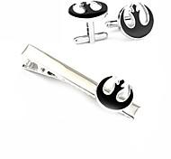 Men Alloy Silver Star Wars Tie Clip