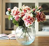 1 Branch Simulation Silk Flowers Gardenia Flower Home Furnishing European Decorative Flower