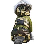 Camouflage Pet Puppy Hoodies Coat Winter Sweatshirt Warm Fur Collar Deco Jacket for (Assorted Colors Assorted Sizes)