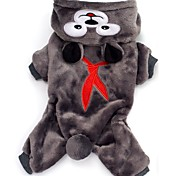 Cute Bear Fleece Halloween Jumpsuits for Pets Dogs Dog Clothes