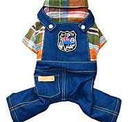 Dog Clothes/Jumpsuit / Jeans Orange / Rose Dog Clothes Winter / Spring/Fall Jeans Fashion / Cowboy
